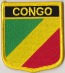 Congo Brazzaville Embroidered Flag Patch, style 07.